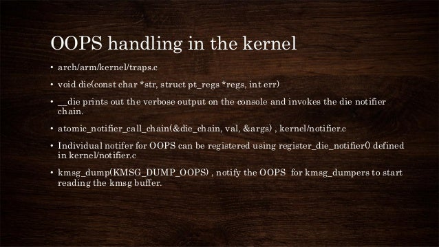 Logging kernel oops and panic
