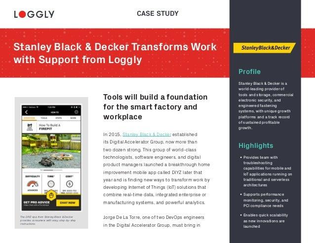 stanley black and decker case solution