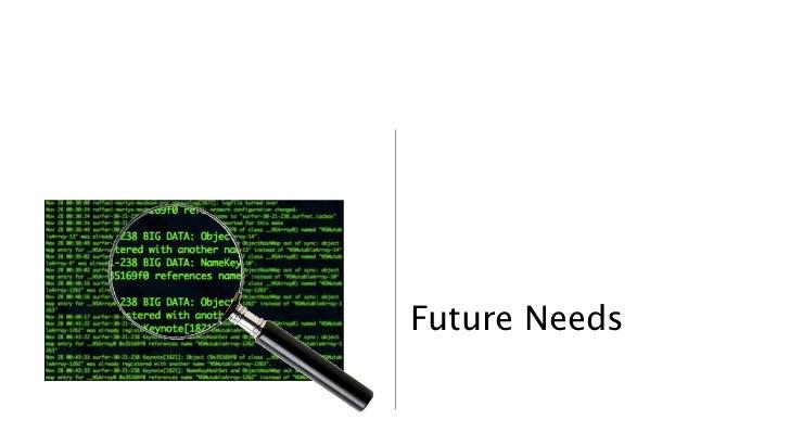 Future Needs               30