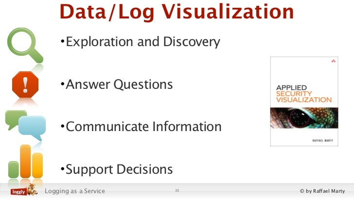 Data/Log Visualization     • Exploration and Discovery     • Answer Questions     • Communicate Information     • Support ...