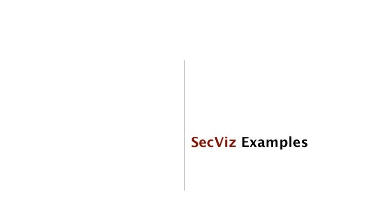 SecViz Examples             44