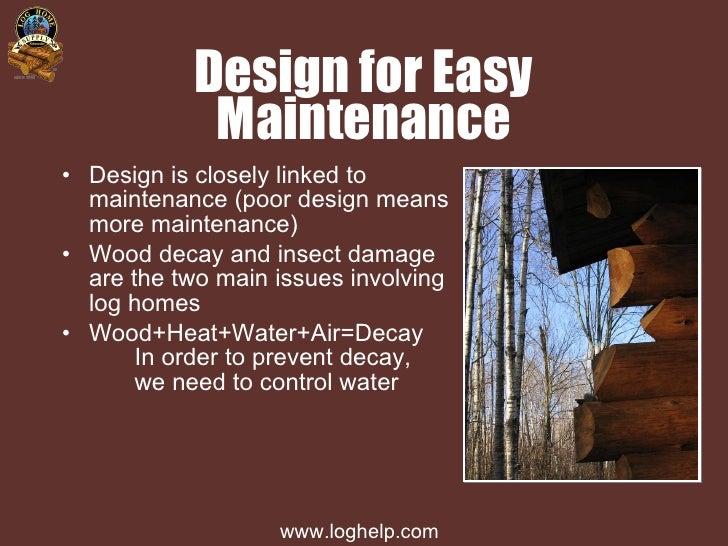 Log Home Maintenance Slides