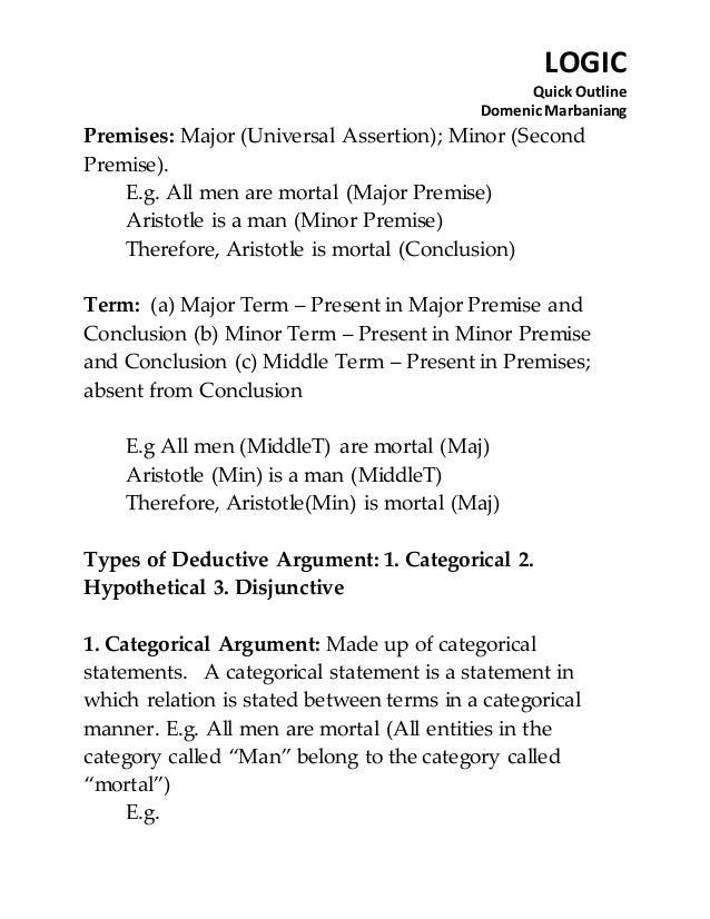 outlining a logical argument Legal logic & technique outline - download as word doc (doc), pdf  file (pdf), text file (txt) or read online.