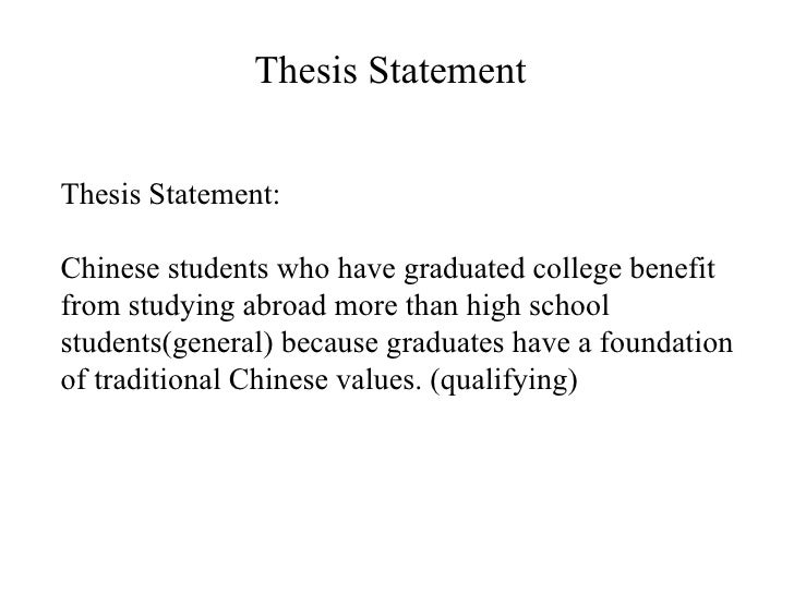 thesis statement for studying abroad