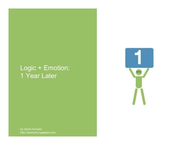 Logic + Emotion: One Year Later