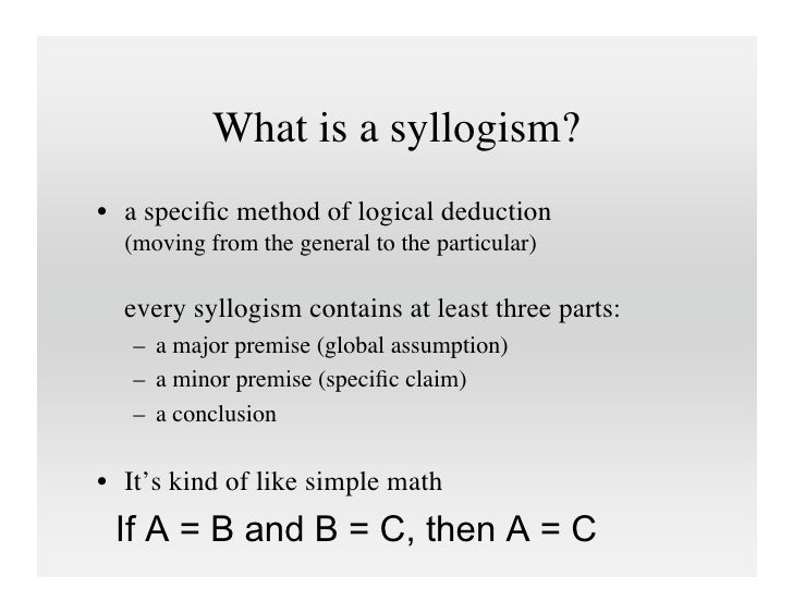 analyzing the syllogisms Some arguments are probably valid: syllogistic reasoning as communication syllogisms comprise a formal meta-analysis of syllogistic reasoning showed that over the.