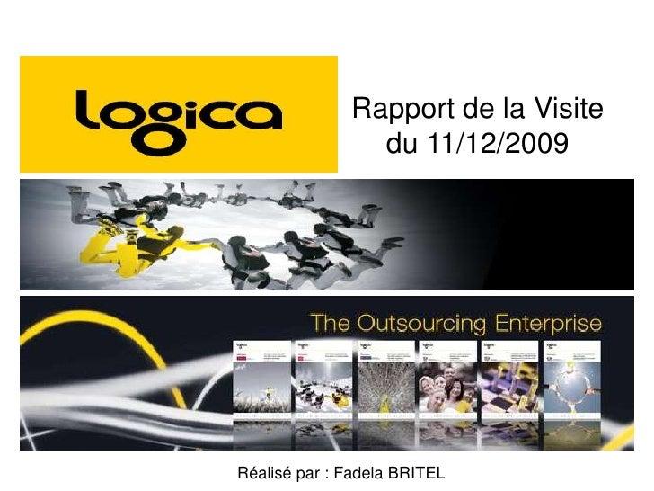 Rapport de la Visite du 11/12/2009<br />Réalisé par : Fadela BRITEL<br />