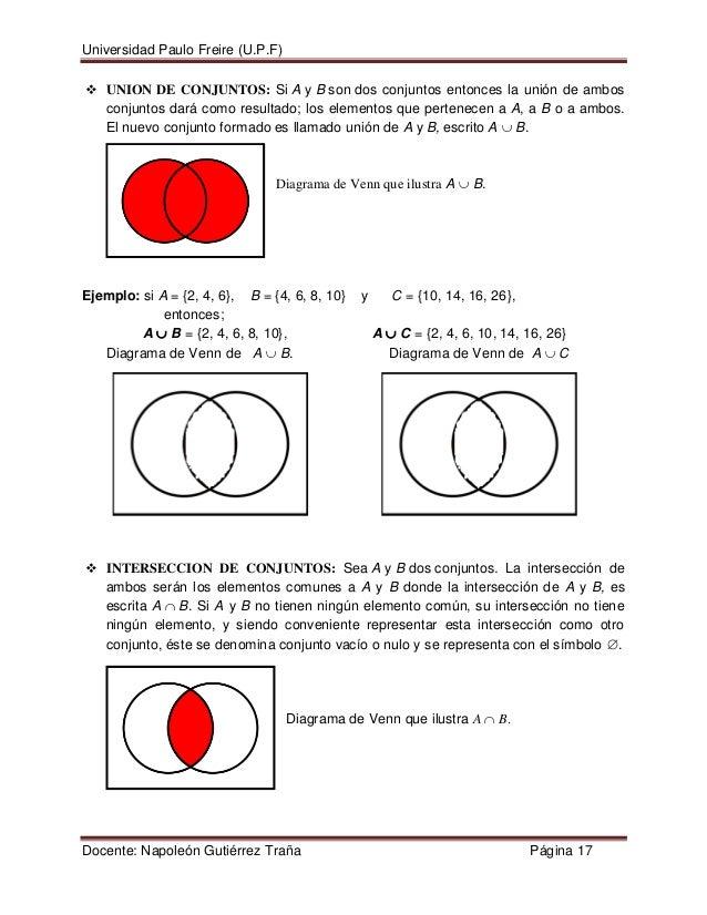 Logica cuantificad conjuntos diagrama de venn que muestra a bdocente napolen gutirrez traa pgina 16 17 ccuart Gallery