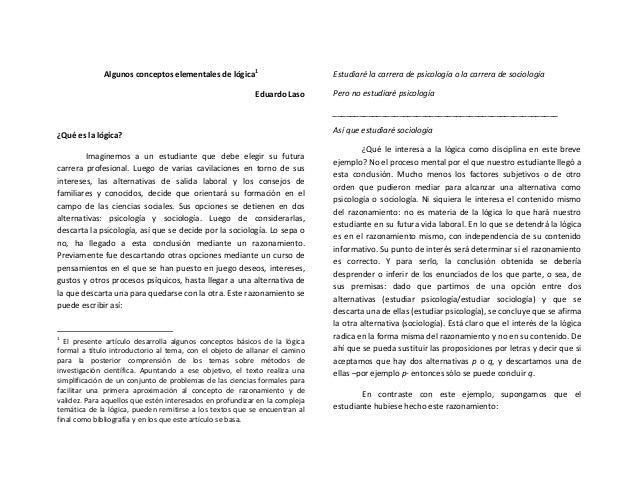 Algunos  conceptos  elementales  de  lógica1    Eduardo  Laso        ¿Qué  es  la  lógica?   Ima...