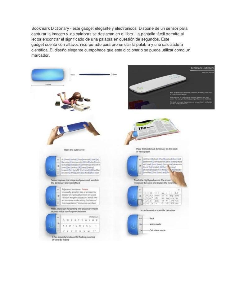 Bookmark Dictionary - este gadget elegante y electrónicos. Dispone de un sensor paracapturar la imagen y las palabras se d...