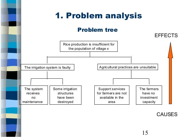 problem analysis final project Project issue management by the  mind tools  technical – relating to a technological problem in the project business process – relating to the project's design change management – relating to business, customer, or environmental changes  final resolution – include a brief description of what was done to address the issue.