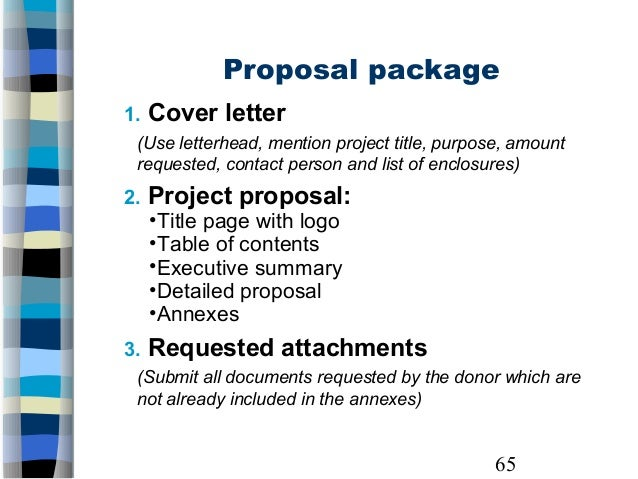 project proposal cover letter