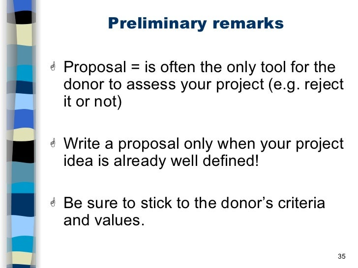 logical framework and project proposal A logical framework brings together all key components of a project or a programme.
