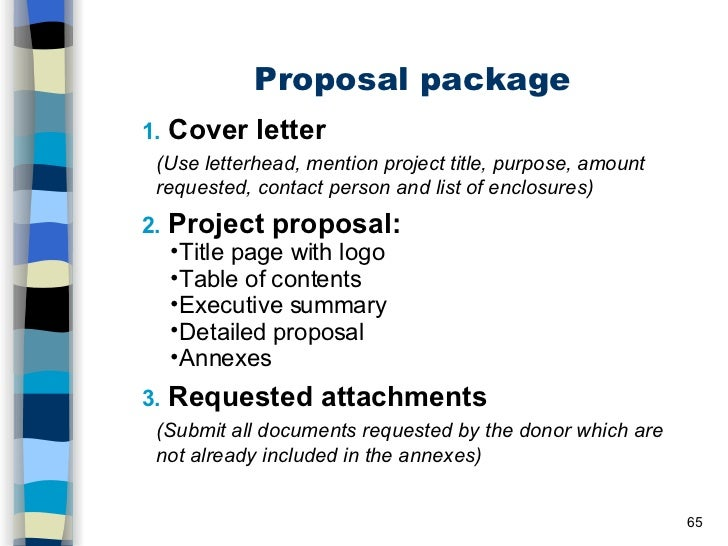 SlideShare  Project Proposal Letter