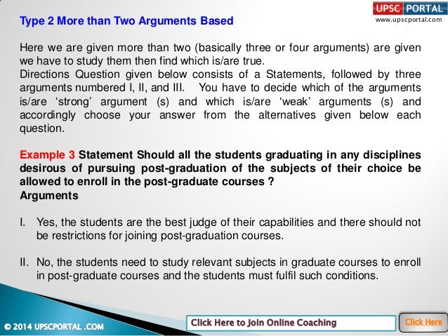 Logical reasoning-and-analytical-ability-statement-and-arguments