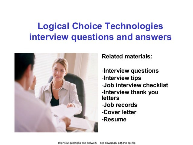 Interview Questions And Answers U2013 Free Download/ Pdf And Ppt File Logical  Choice Technologies Interview ...