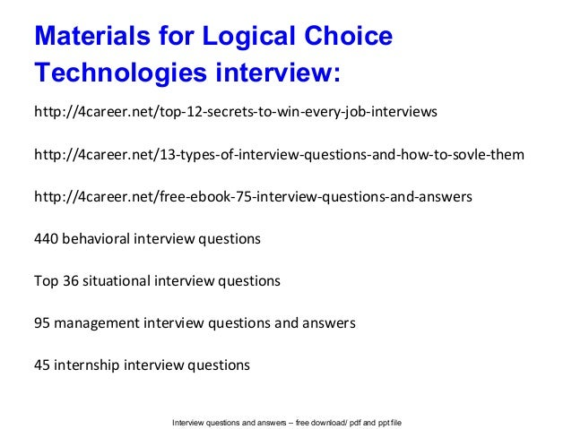 logical interview questions and answers pdf