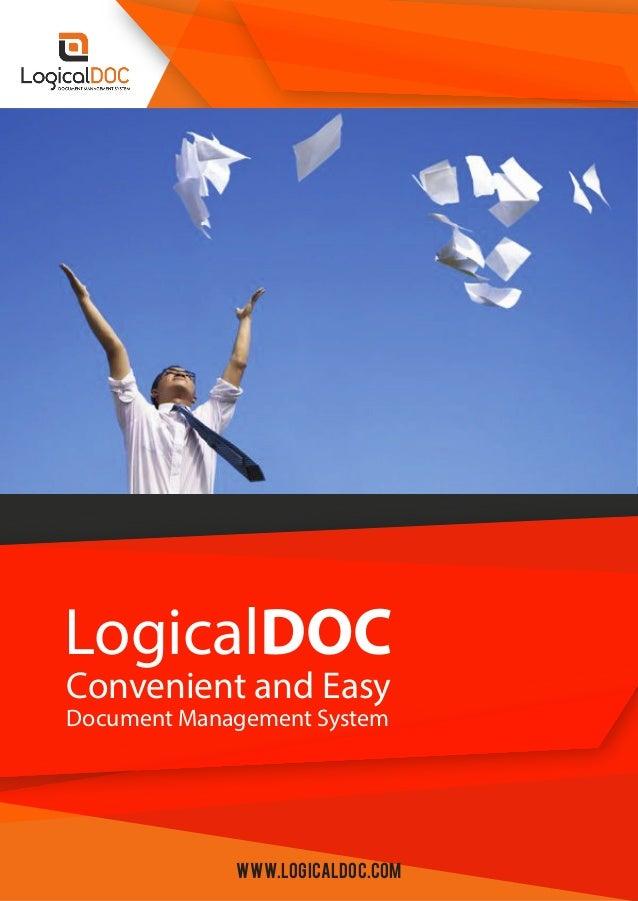Convenient and Easy LogicalDOC Document Management System www.logicaldoc.com