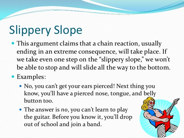 Slippery Slope Argument Research Paper Writing Service