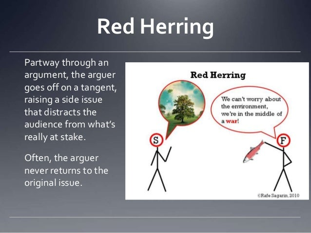 Red herring fallacy ads celebrity