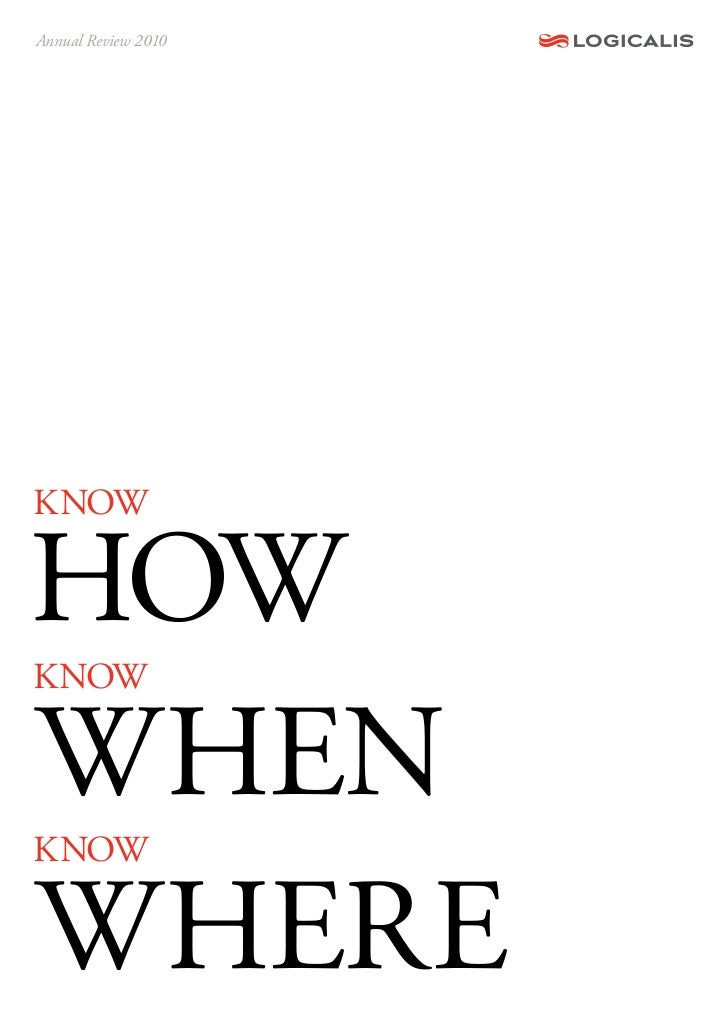 Annual Review 2010KNOWhOWKNOWWhENKNOWWhErE