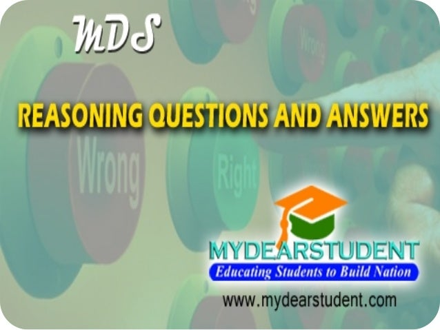 logical reasoning questions with answers pdf