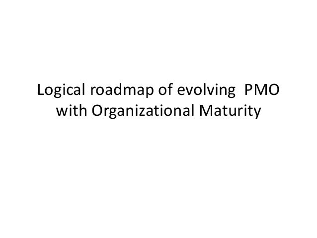 Logical roadmap of evolving PMO with Organizational Maturity