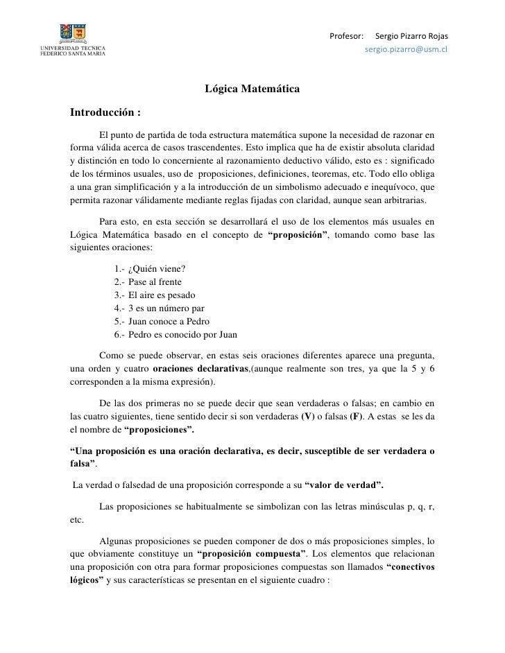 Profesor:      Sergio Pizarro Rojas                                                                                 sergio...