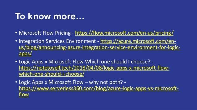 Logic app x microsoft flow