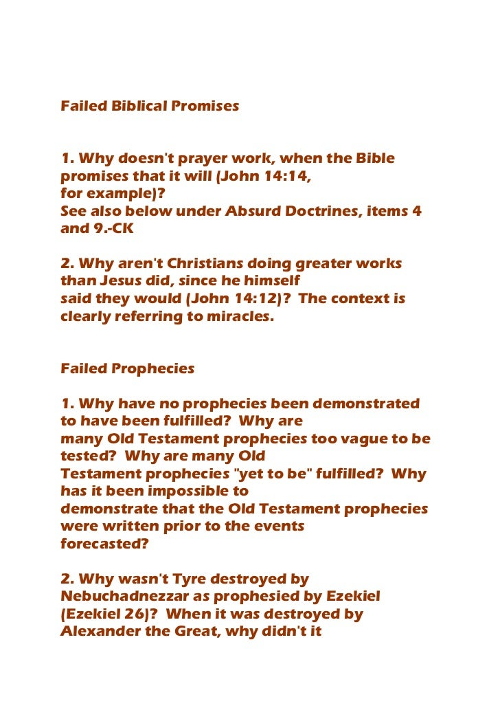 Logic Arguments That the Church needs to answer