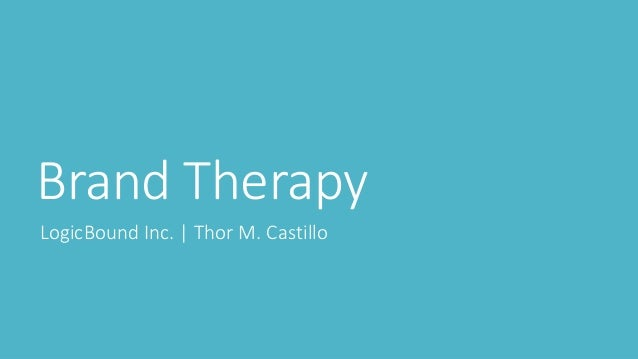 Brand Therapy LogicBound Inc. | Thor M. Castillo