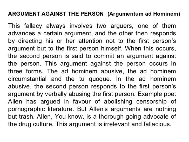 essay fallacy logical
