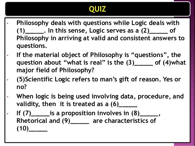 philosophy questions