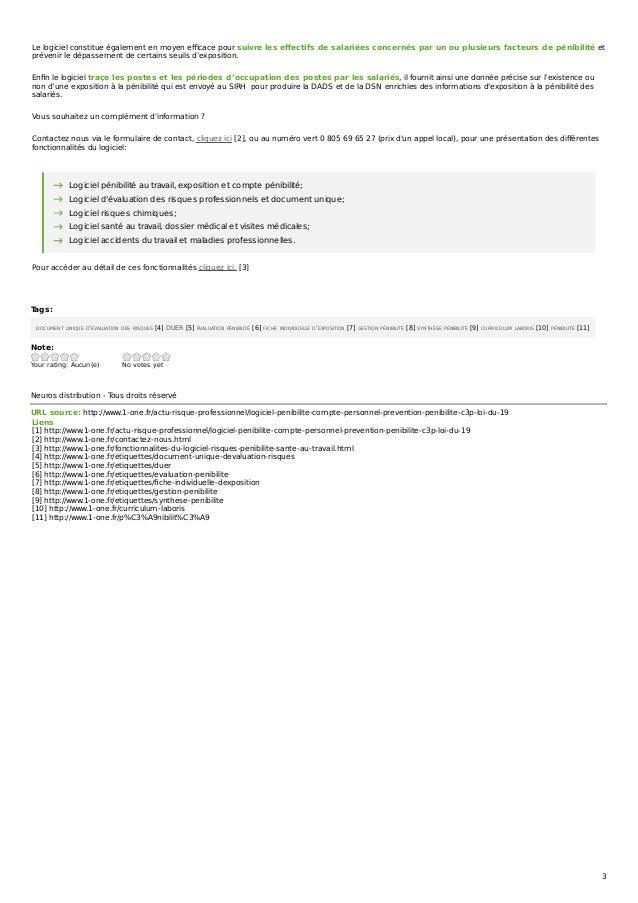 Tags: DOCUMENT UNIQUE D'ÉVALUATION DES RISQUES [4] DUER [5] ÉVALUATION PÉNIBILITÉ [6] FICHE INDIVIDUELLE D'EXPOSITION [7] ...