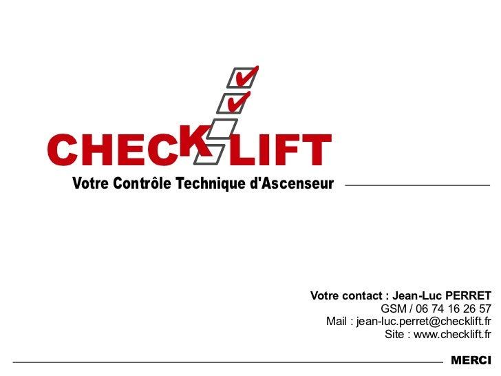 logiciel controle technique ascenseur check lift 1 6. Black Bedroom Furniture Sets. Home Design Ideas