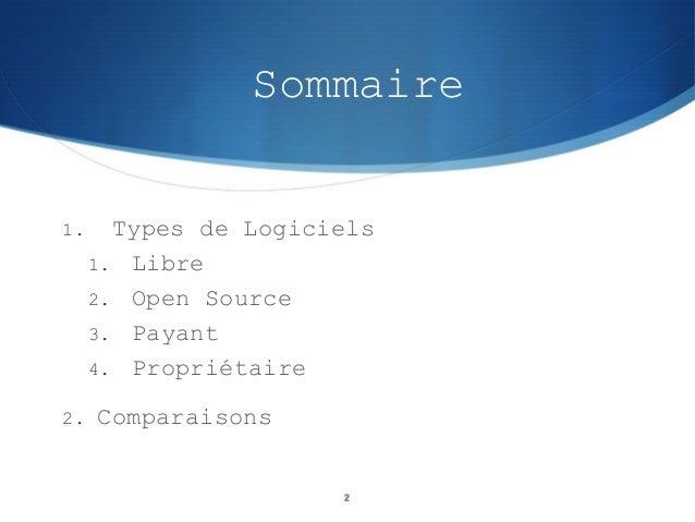 Logiciels Slide 2