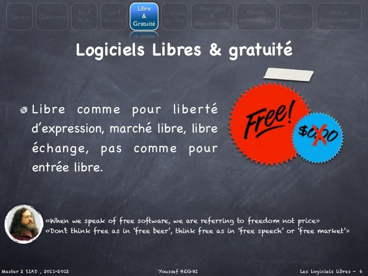 Libre                   Avantages                            En 3     Les 4                Licences                     Mo...