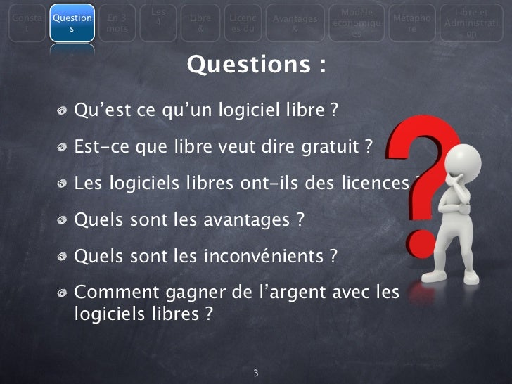 Les                                  Modèle                Libre etConsta   Question   En 3         Libre   Licenc   Avant...