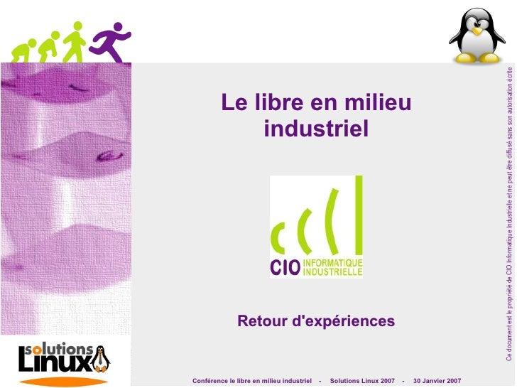 Ce document est le propriété de CIO Informatique Industrielle et ne peut être diffusé sans son autorisation écrite        ...