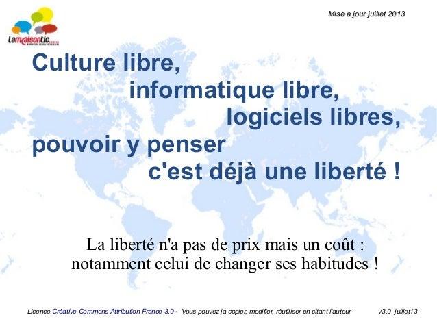 Licence Créative Commons Attribution France 3.0 - Vous pouvez la copier, modifier, réutiliser en citant l'auteur v3.0 -jui...