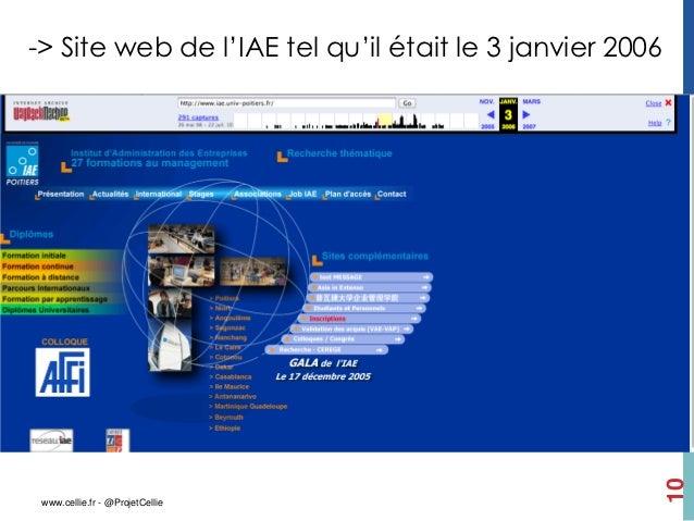 -> Site web de l'IAE tel qu'il était le 3 janvier 2006                                                         10 www.cell...