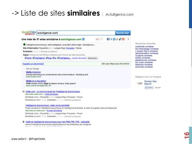 -> Liste de sites similaires :   Actulligence.com                                                    16www.cellie.fr - @Pr...