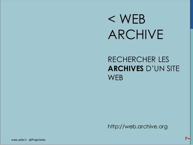 < WEB                                ARCHIVE                                RECHERCHER LES                                ...
