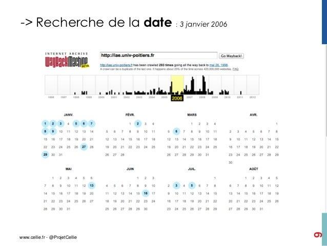 -> Recherche de la date : 3 janvier 2006                                           9www.cellie.fr - @ProjetCellie