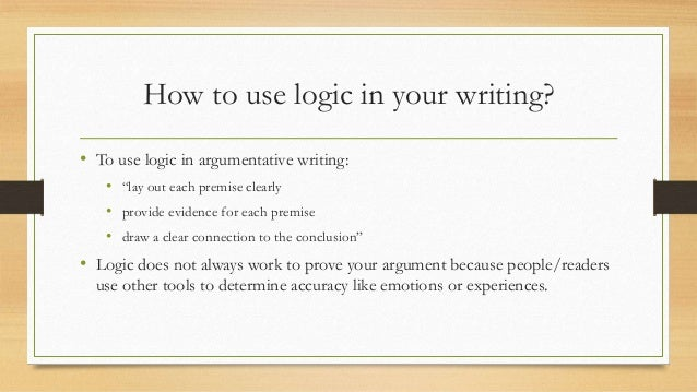 Essay about logic