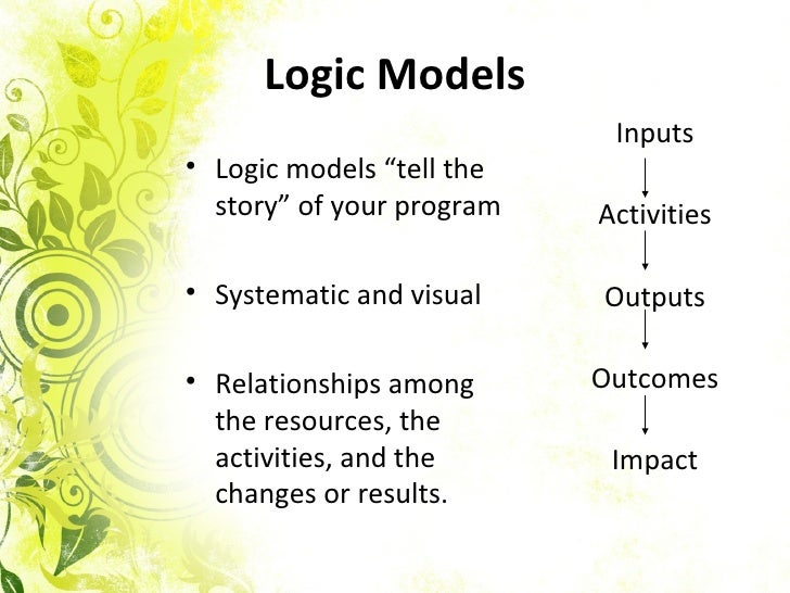 how to create a logic model