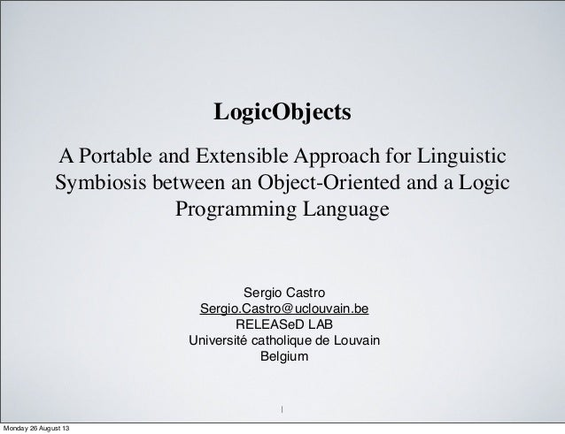 A Portable and Extensible Approach for Linguistic Symbiosis between an Object-Oriented and a Logic Programming Language Se...