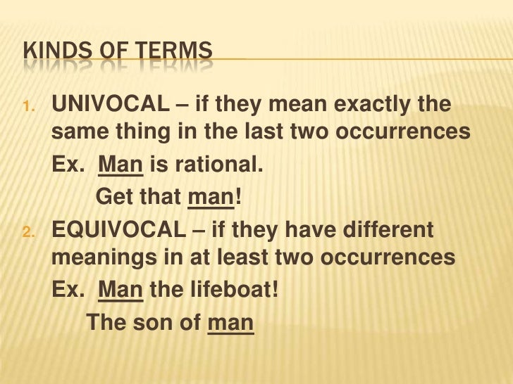 equivocal terms in logic
