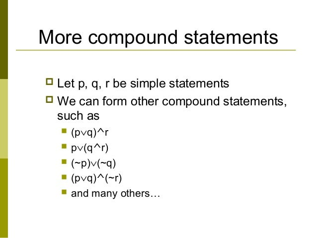 10 more compound statements