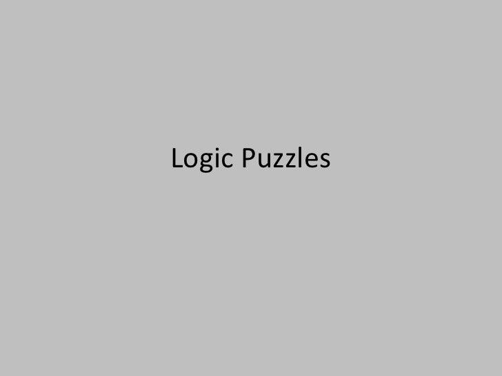 Logic Puzzles<br />